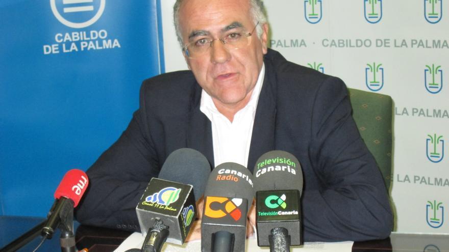 Carlos Cabrera, este jueves, en la presentación del concurso de ideas. Foto: LUZ RODRÍGUEZ