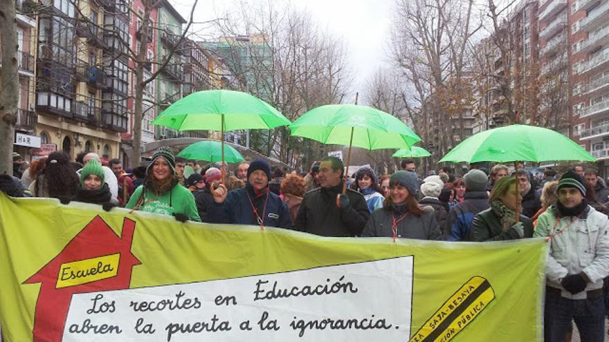 Las manifestaciones y movilizaciones de la marea verde han sido continuas a lo largo de esta legislatura.