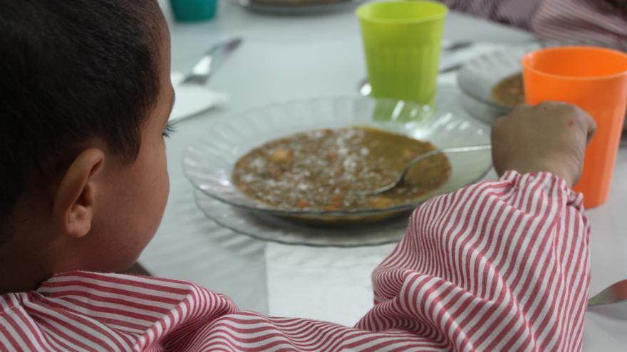 Las ayudas de comedor se han ido reduciendo paulatinamente en los últimos años. Foto: Cristina Maruri / AeA