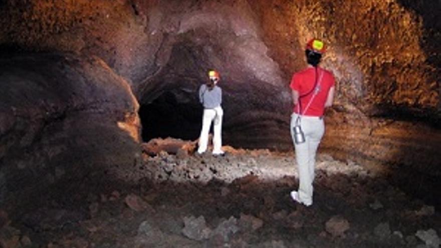 Imagen de archivo del interior del Tubo Volcánico de Todoque.