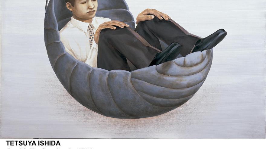 'Cochinilla durmiendo', 1995. Acrílico sobre tabla. © Tetsuya Ishida, 2019