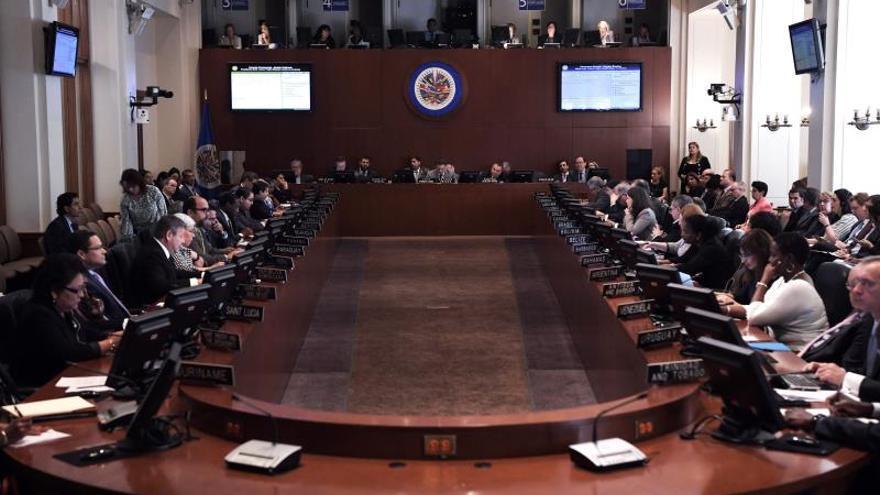 Vista del pleno del Consejo Permanente de la Organización de Estados Americanos (OEA).