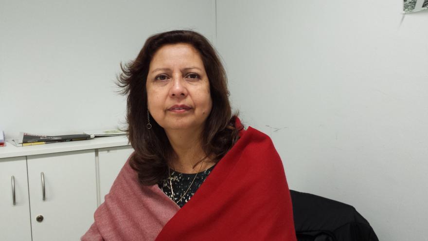 La directora del Movimiento Manuela Ramos de Perú, María Elena Reyes.