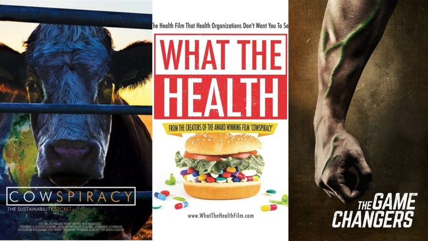 Cowspiracy, What The Health y Game Changers son tres documentales sobre veganismo que emite Netflix