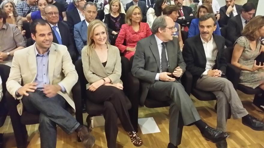 Cristina Cifuentes, Ángel Gabilondo y José Manuel López en una imagen de archivo