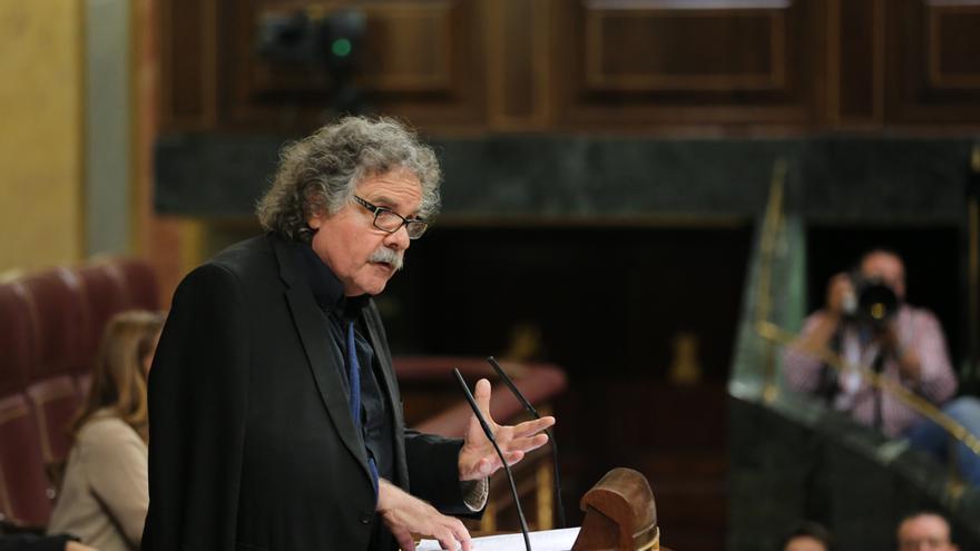 Joan Tardà durante su intervención en el Congreso de los Diputados