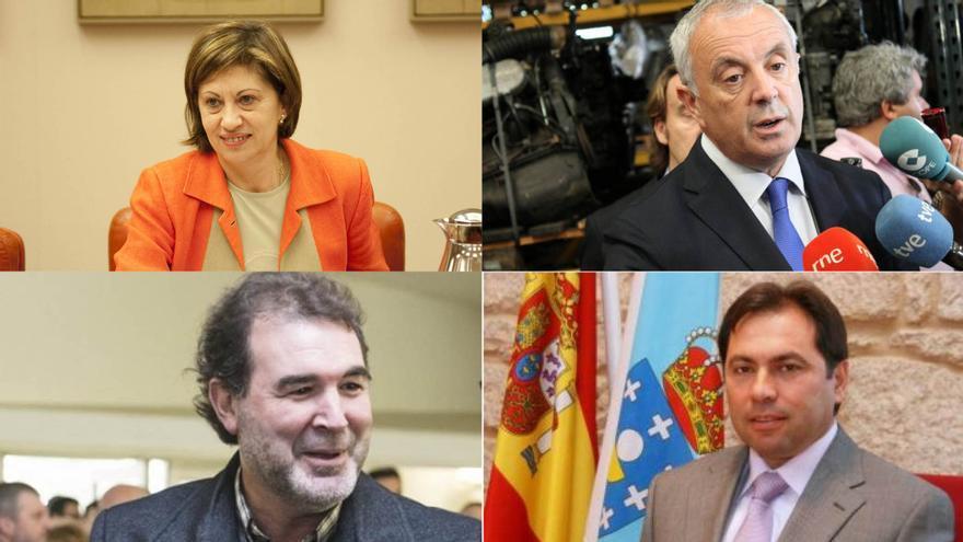 Elena Espinosa, Pachi Vázquez, Anxo Quintana y Salvador González Solla