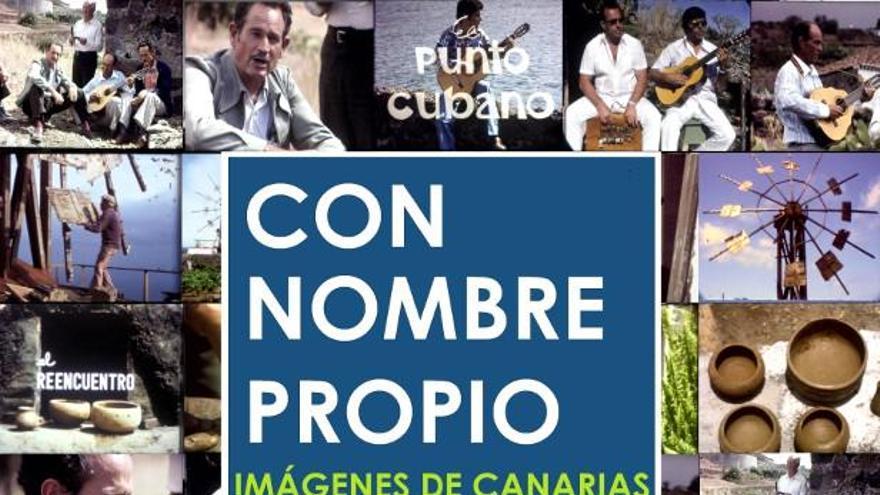 Cartel del ciclo 'Con nombre propio. Imágenes de Canarias'.