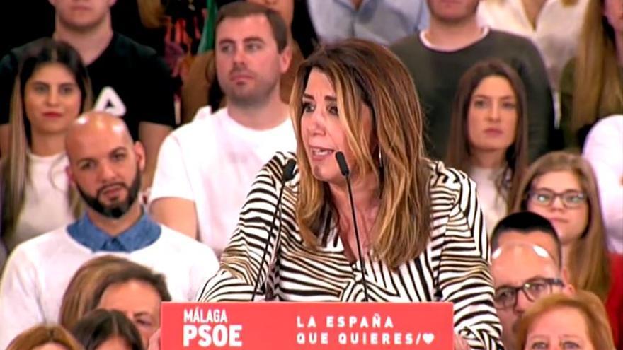 Susana Díaz en un acto en Málaga.