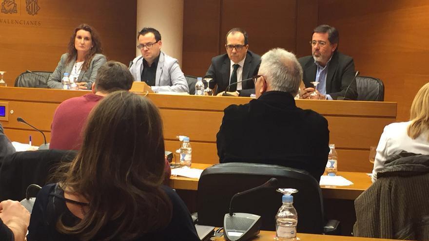 La comisión sobre RTVV en las Corts Valencianes.