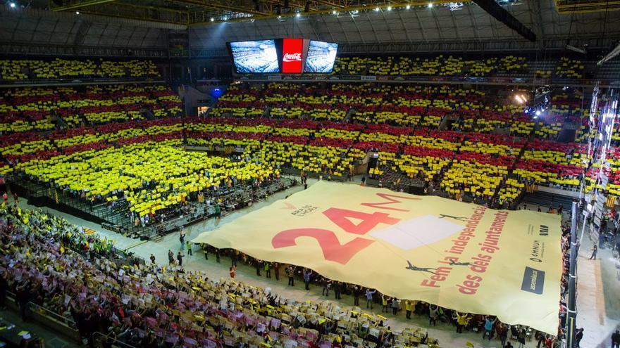 L'acte convocat per Ara És l'Hora al Palau Sant Jordi de cara a les municipals / ENRIC CATALÀ