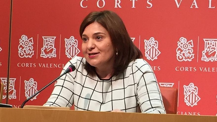 Isabel Bonig, durante su comparecencia en les Corts