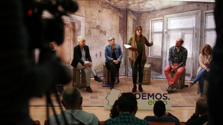 La candidata de Podemos al Gobierno de Aragón, Maru Díaz