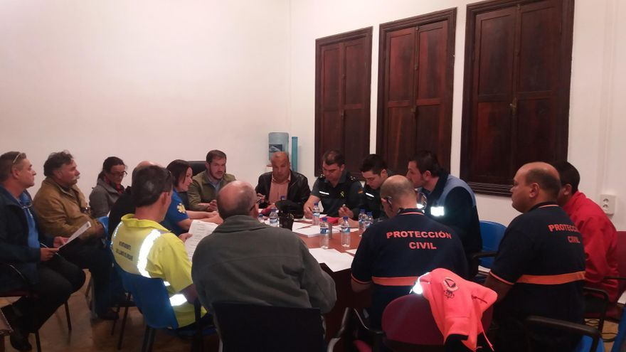 Reunión de coordinación de la seguridad durante el Carnaval de Los Llanos de Aridane.