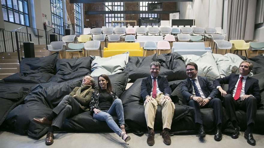 Andrea Levy y Álvaro Nadal, en el Campus Google.