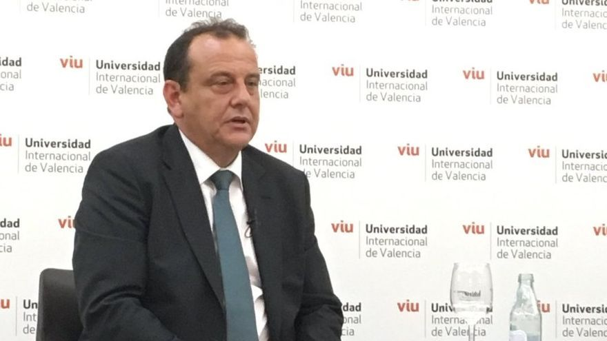 Pedro Horrach, durante su conferencia en la VIU