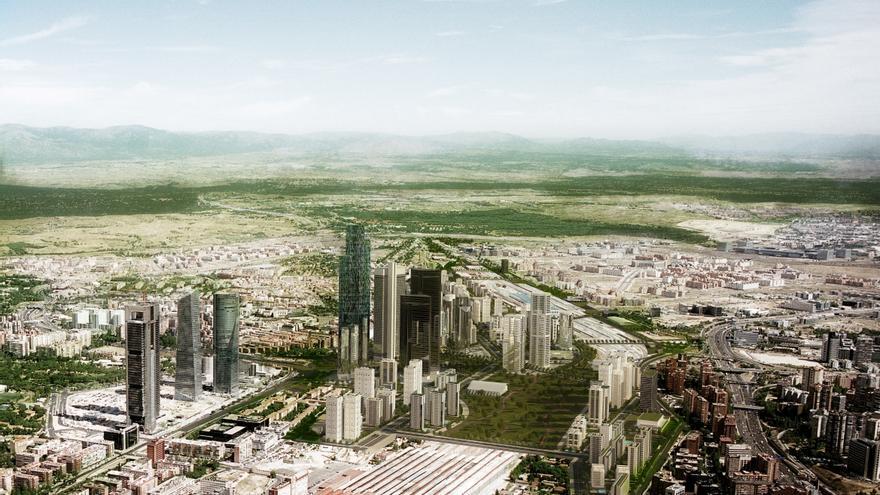 Vista general del Distrito Castellana Norte /DCN.