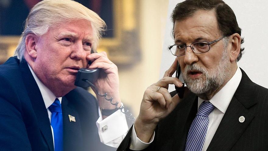Donald Trump y Mariano Rajoy. (Canarias Ahora)
