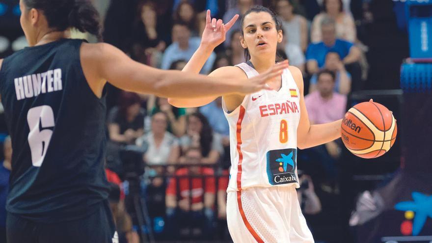 Leticia Romero, en un partido con la selección española absoluta