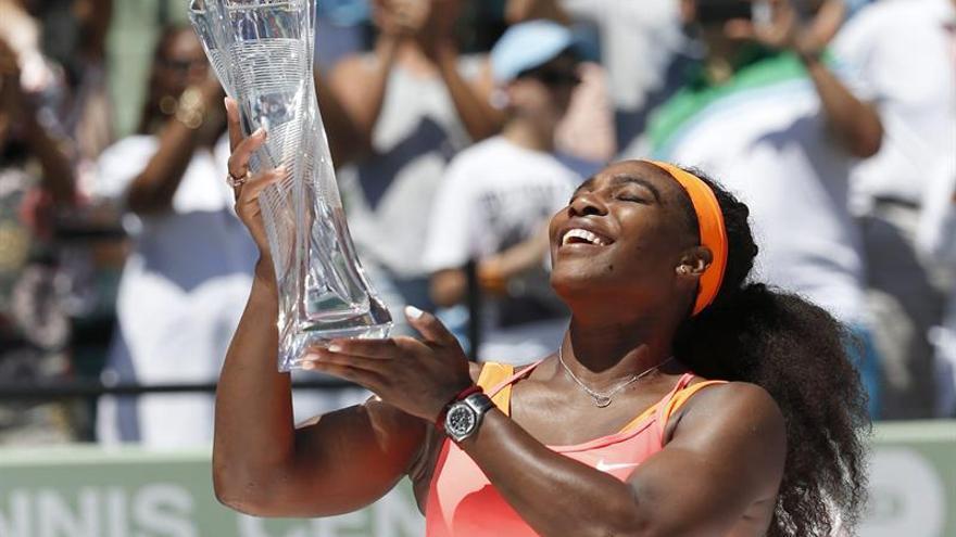 Serena Williams en la final del Abierto de Miami. Foto: EFE/EPA/RHONA WISE