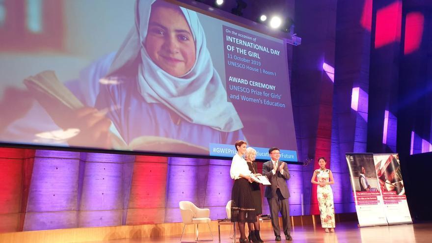 María Chivite recoge el premio de la Unesco