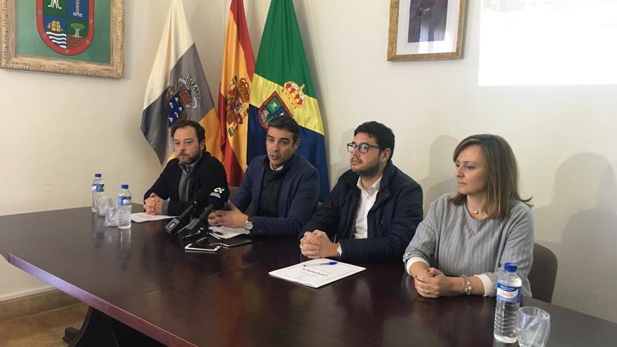 De izquierda a derecha,  César Martín, Narvay Quintero, Jacob Qadri y Nieves Lady Barreto, este martes, en Barlovento.