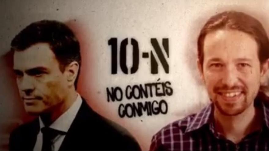 Imagen de uno de los anuncios pagados publicados en Facebook, que comparte mensaje y estilo creativo con la campaña de cartelería.