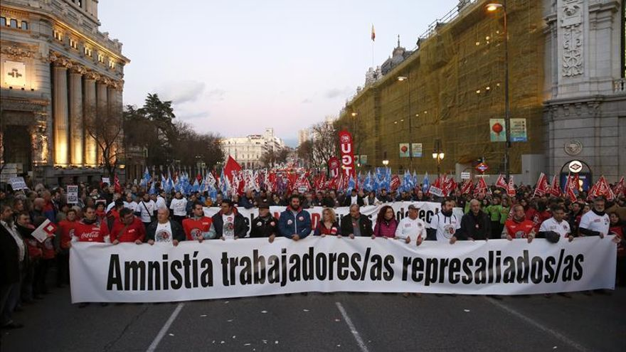 Arranca en Madrid la marcha por el derecho a huelga que abren los 8 de Airbus