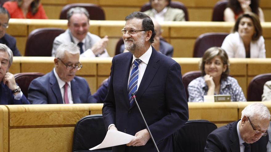"""Cuatro grupos presentan la misma pregunta al Gobierno contra la ausencia de Rajoy en el Senado: """"¿Calidad democrática?"""""""