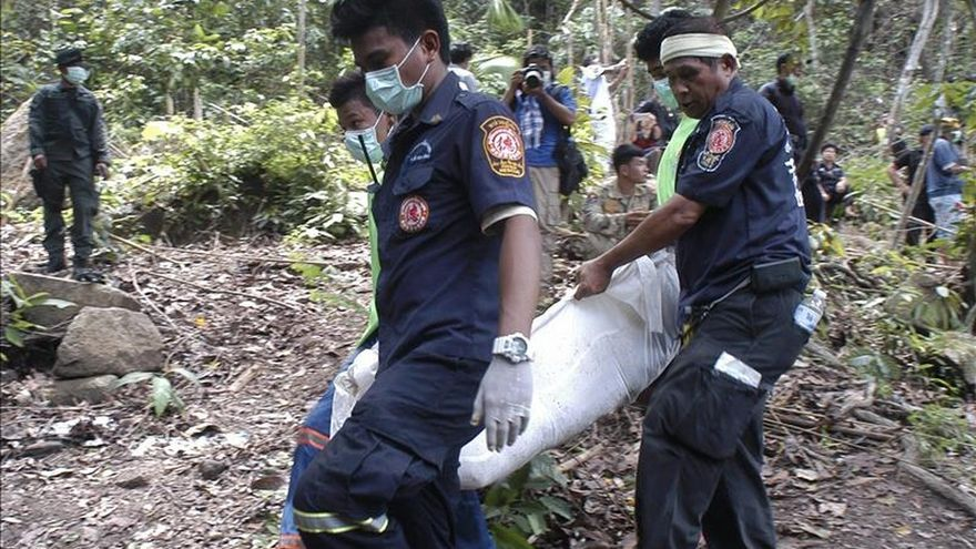 Tailandia recupera 26 cadáveres de un campo de refugiados clandestino