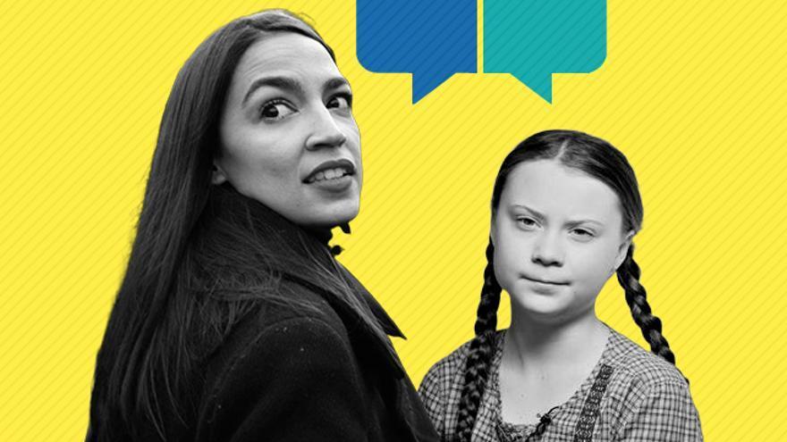 Conversación Ocasio-Cortez y Greta Thunberg