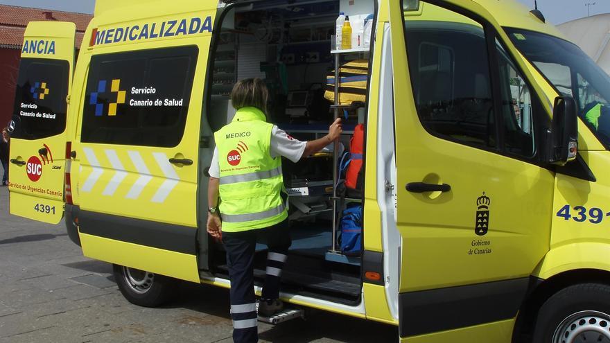 Ambulancia medicalizada del SUC. (CEDIDA)