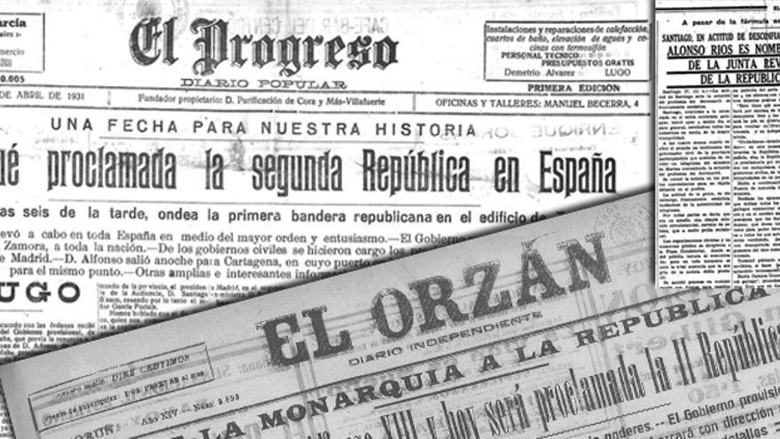 Recortes de periódicos gallegos de 1931