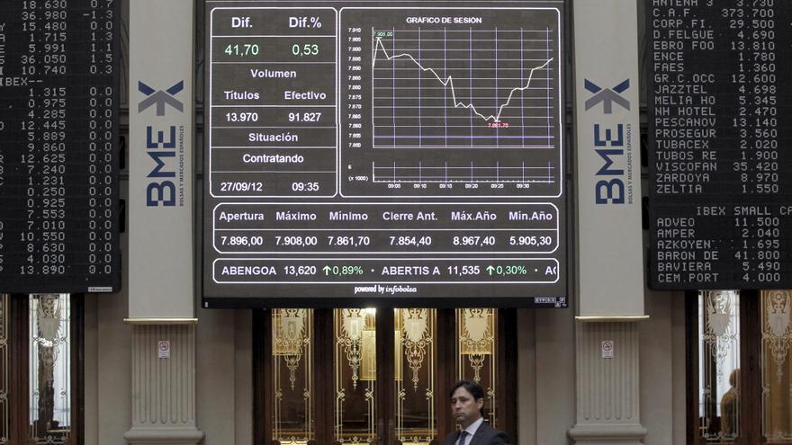 La bolsa acoge los Presupuestos con ganancias y el IBEX sube el 0,91 por ciento