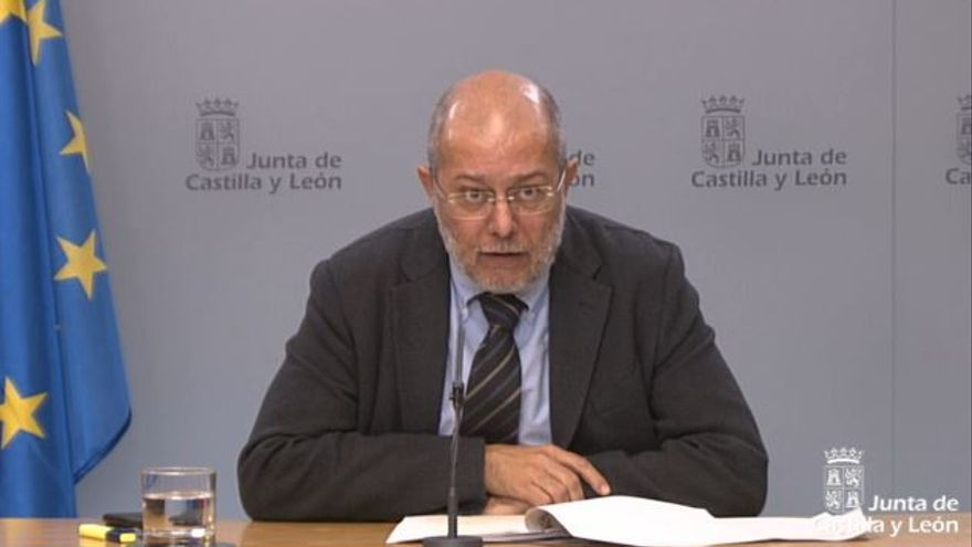 Francisco Igea, durante la rueda de prensa posterior al Consejo de Gobierno.