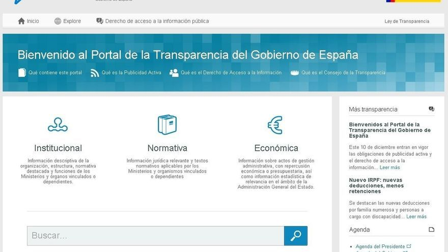 Imagen del Portal de Transparencia