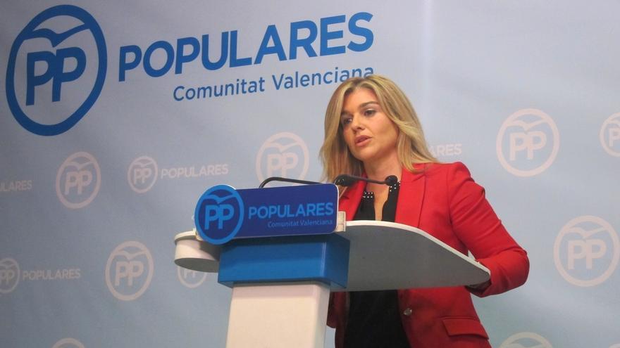 """La portavoz adjunta del PP en las Corts afirma que Puig """"está descolocado a nivel nacional"""" en el Congreso del PSOE"""