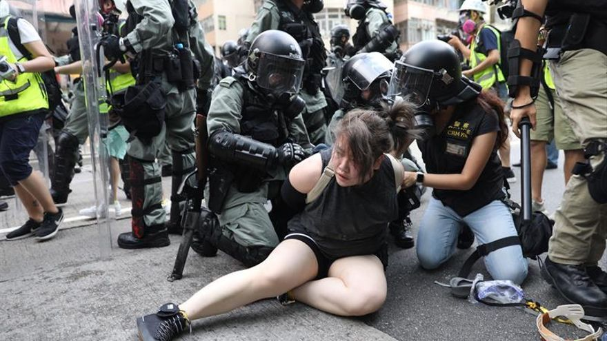 Miedo a nuevos ataques de mafiosos en otra jornada de protestas en Hong Kong