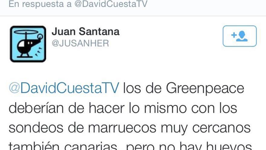 Captura de pantalla de Twitter.