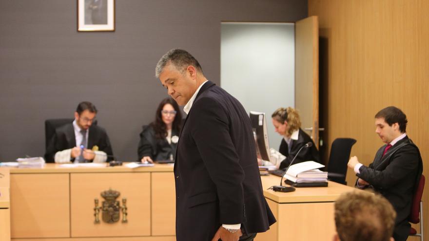 Francisco González en el juicio sobre la grabación de plenos del Ayuntamiento de Mogán