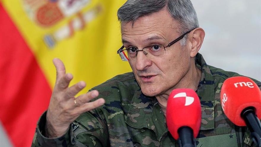 Jefes del Mando de Operaciones español y de Coalición Irak felicitan a las tropas de España
