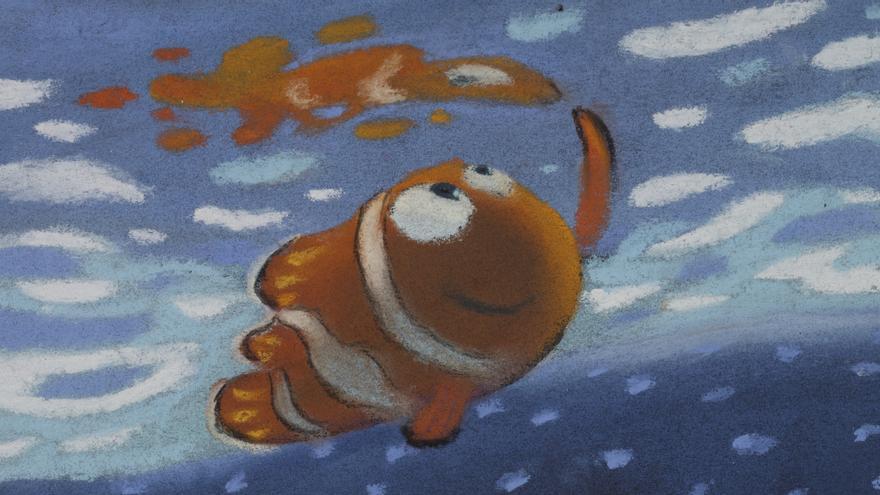 Pastel hecho por Ralph Eggleston para la secuencia excursión de Buscando a Nemo (2003). / Disney/Pixar