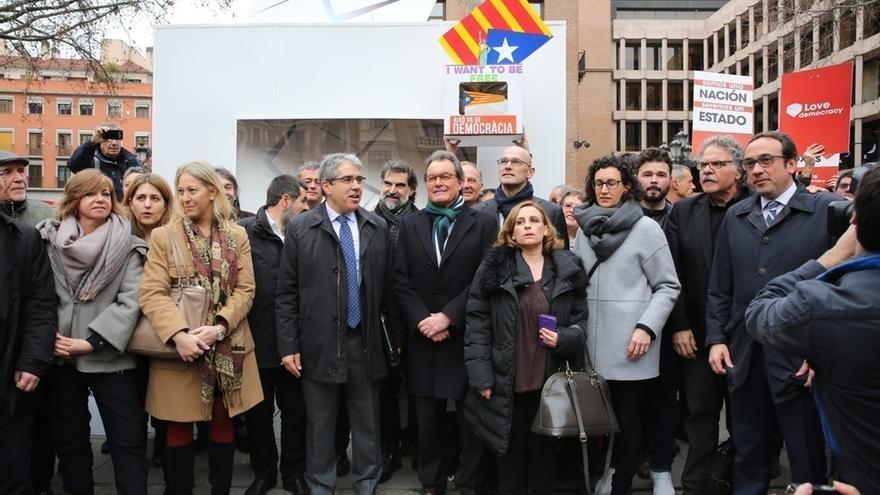 Dirigentes del PDeCAT y de Podemos acompañarán este jueves a los citados en la Audiencia Nacional y al Supremo