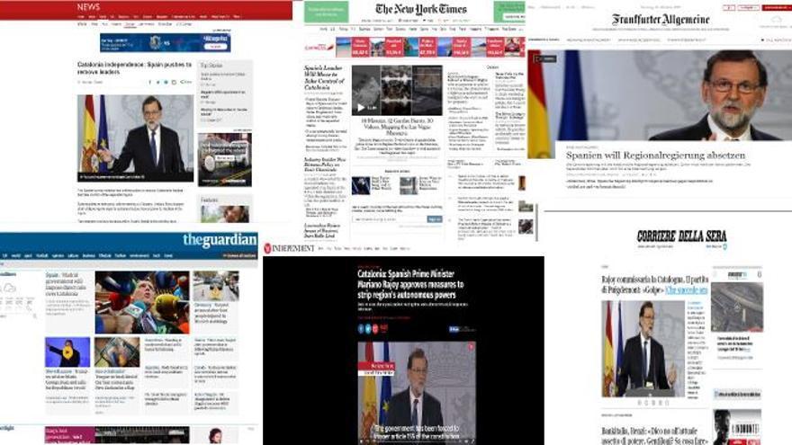 Así ha reaccionado la prensa internacional a la intervención en Catalunya