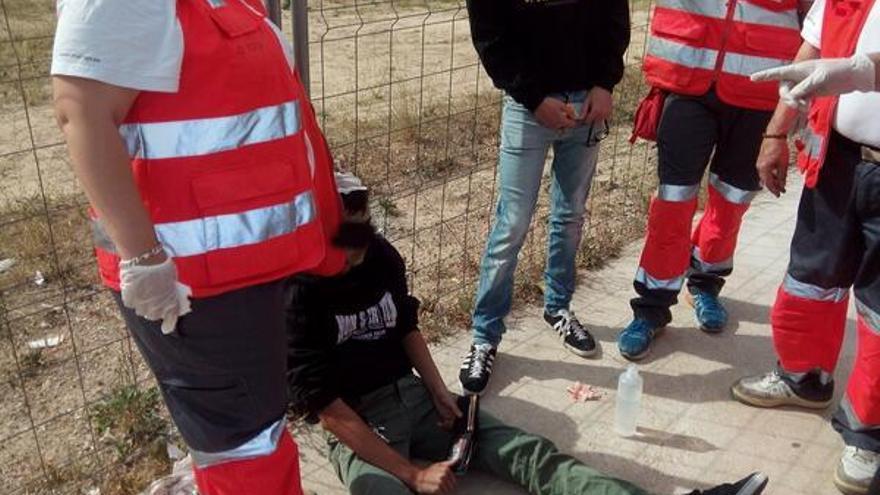 Algunos jóvenes necesitaron atención hospitalaria (foto: @AntifeixistesPV)