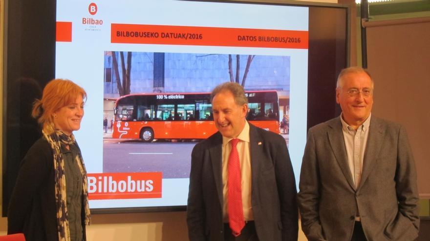 Bilbobus transportó 25,9 millones de viajeros en 2016, un 0,7% menos que el año anterior