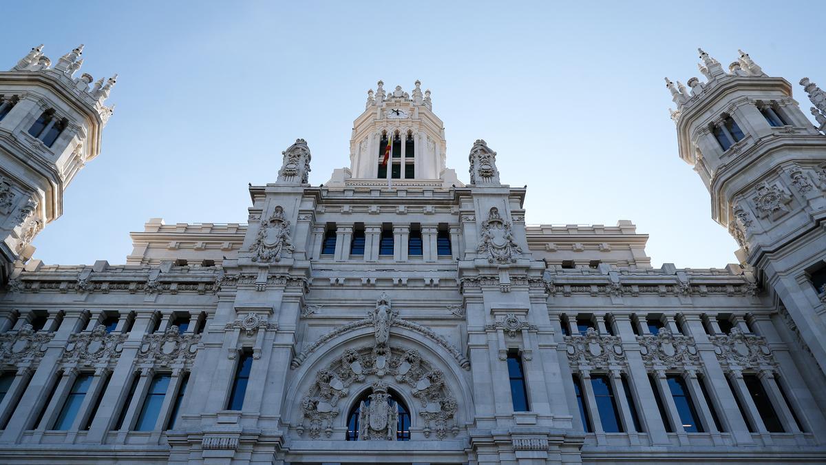 Vista del Palacio de Cibeles, sede del Ayuntamiento de Madrid.