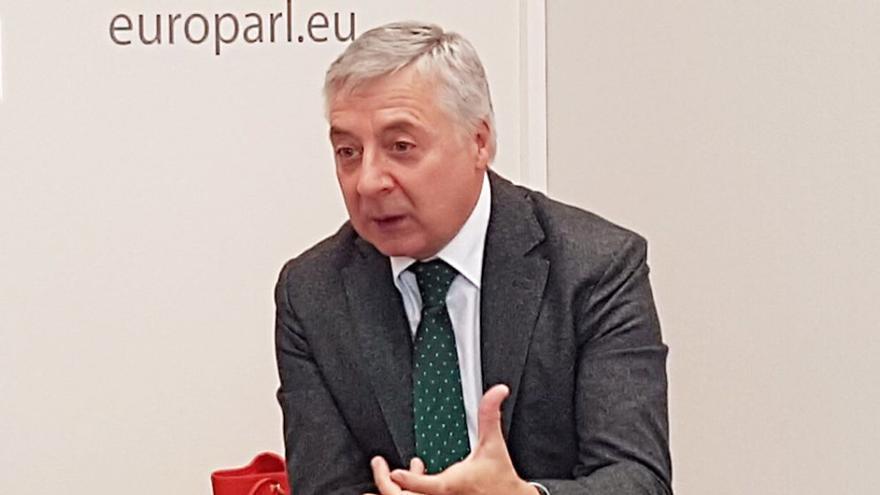 José Blanco, en su conversación en Bruselas con periodistas gallegos y del norte de Portugal