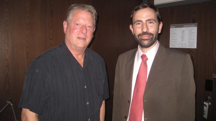 Andreu Veà con Al Gore (Foto: Andreu Veà)