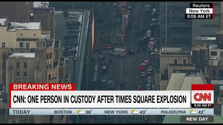 Imágen tomada minutos después de la explosión en Manhattan.